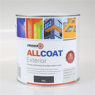 ALLCOAT EXTERIOR PAINT WHITE GLOSS 1L