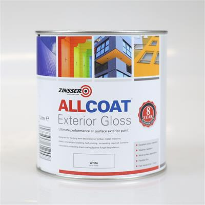 ALLCOAT EXTERIOR PAINT WHITE GLOSS 2.5L