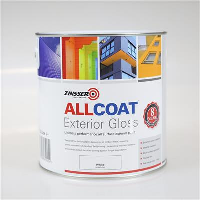 ALLCOAT EXTERIOR PAINT WHITE SATIN 1L