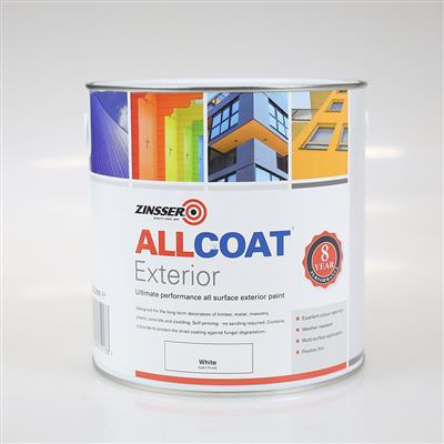 ALLCOAT EXTERIOR PAINT WHITE SATIN 2.5L