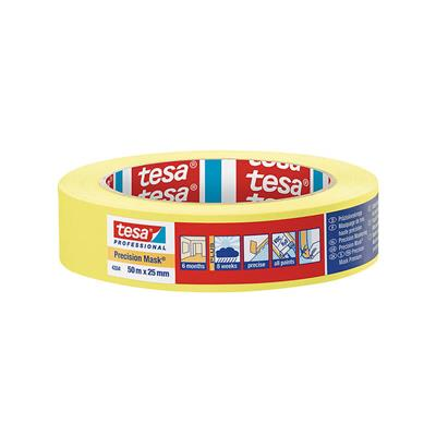MASKING TAPE PRECISION INDOOR 25MM X 50M TESA YELLOW