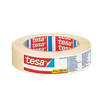 MASKING TAPE GENERAL PURPOSE INDOOR 25MM X 50M TESA WHITE