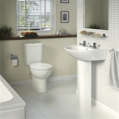SANDRINGHAM 21 4 PIECE 1 TAPHOLE  SET WHITE INCLUDING SEAT