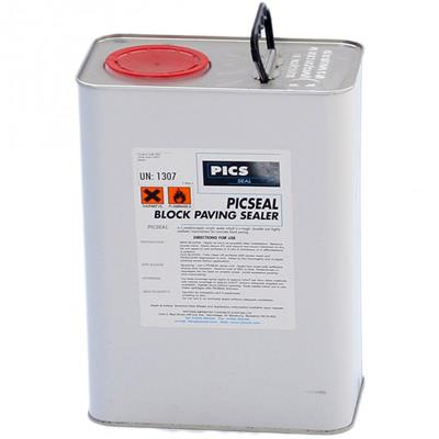BLOCK PAVING SEALER PICSEAL MATT FINISH BS2 5L FOR USE ON BLOCK PAVING AND NATURAL STONE
