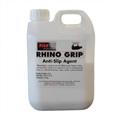 ANTI SLIP FOR PICS BLOCK PAVER SEALER RHINO GRIP ASA IS ALSO A MATTING AGENT FOR  ALL SEALERS