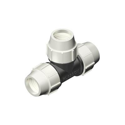 PLASSON WATER FITTING FOR MDPE 90 DEGREE TEE 32X32X32 7040EEE