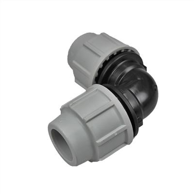 PLASSON WATER FITTING FOR MDPE  90 DEGREE ELBOW 25X25  7050DD0