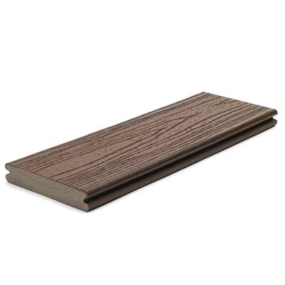 DECKING BOARD GROOVED 25X140MM SPICED RUM 4.88M LONG TREX TRANSCEND gTRGBSR488