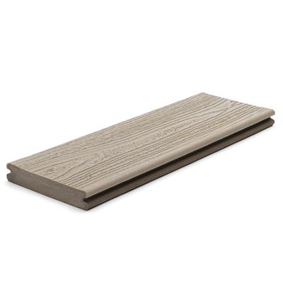 DECKING BOARD GROOVED 25X140MM PEBBLE GREY 4.88M LONG TREX CONTOURS gTRGBPG488