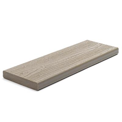 DECKING BOARD  SQUARE  25X140MM PEBBLE GREY 3.66M LONG TREX CONTOURS gTRSBPB366