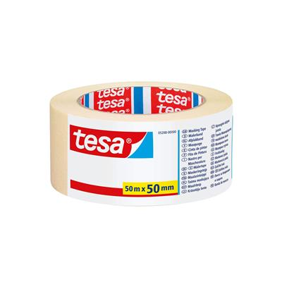 MASKING TAPE GENERAL PURPOSE INDOOR 50MM X 50M TESA WHITE