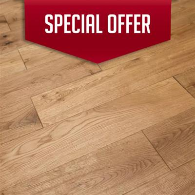 ENGINEERED OAK FLOORING 18MM X 150MM STRATFORD BRUSHED AND OILED 1.71M2 PER PACK